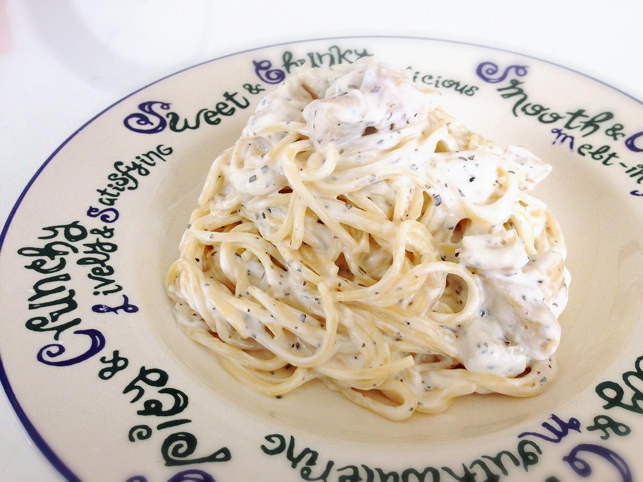 【レシピ】フライパンひとつでお手軽に☆バジル&クリームチーズのパスタ
